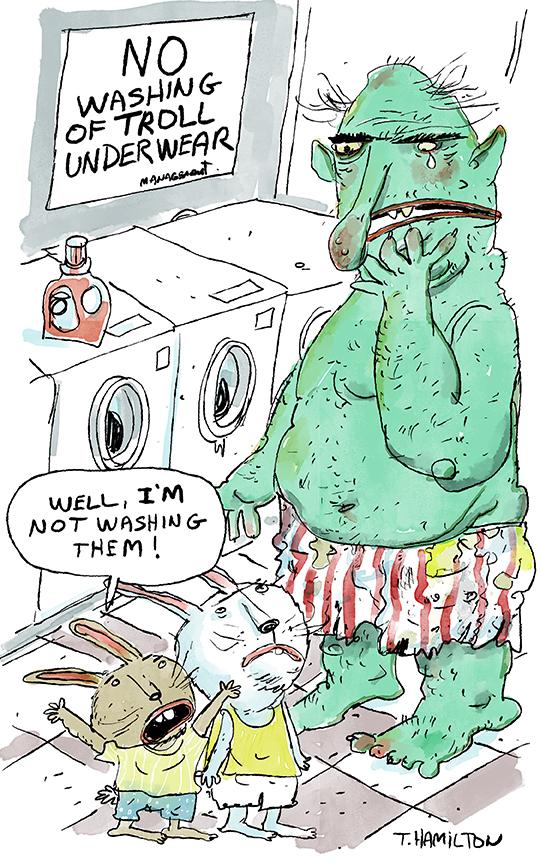 rabbits laundry